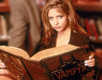 This is Buffy with a big book. It amuses me.