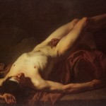 Nude Study of Hector by Jacques Louis David