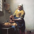 The beautiful painting above is by Vermeer; and it could only be by Vermeer.  Even if you didn't recognise the actual painting, there's no other artist who paints domestic scenes...