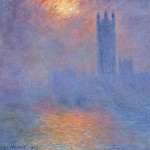 Houses of Parliament, Effect of Sunlight in Fog by Claude Monet (subtly different to the top one!)