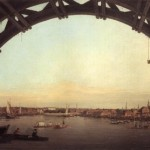 London Seen Through the Arches of Westminster Bridge by Canaletto