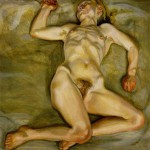 Nude woman by Lucian Freud
