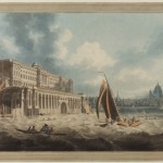 Somerset House from the Thames by Edward Dayes