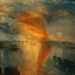 The Burning of the House of Lord and Commons by J.M.W. Turner (more flames than the Burning of Parliament, above)