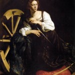 Fillide again as St Catherine, whose appalling demise inspired the Catherine Wheel