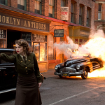 Hayley Attwell as Agent Carter; how to hail a taxi in New York