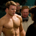 Captain America, after being injected with loads of muscles