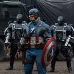 Captain America wondering why he's the only one wearing a ridiculous uniform that makes him an easy target for snipers